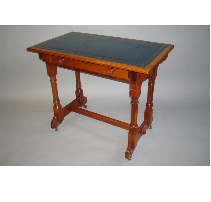 C19th walnut writing table stamped Gillows