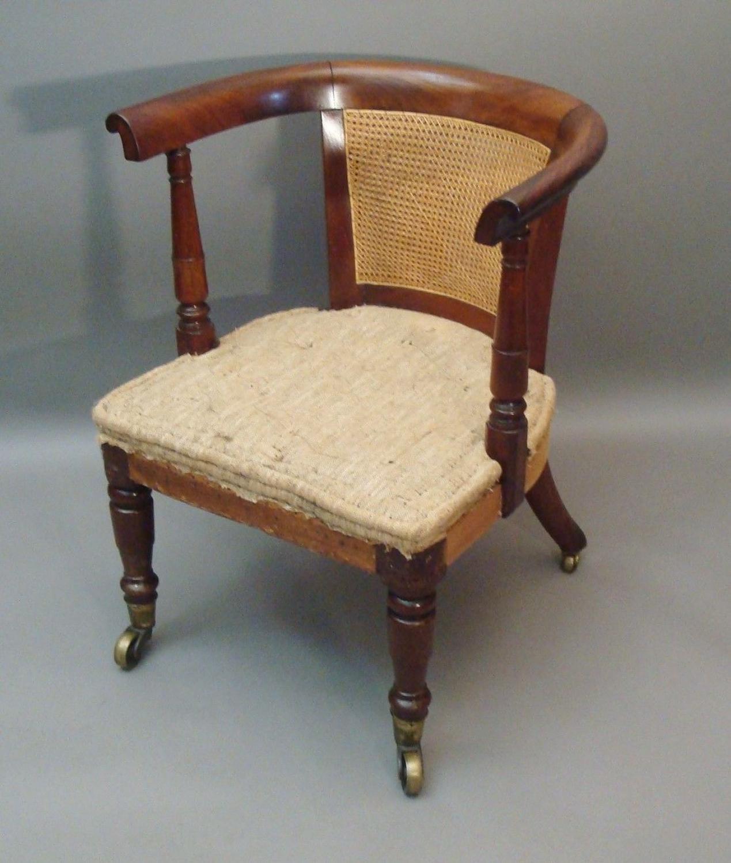 Regency mahogany library / desk chair