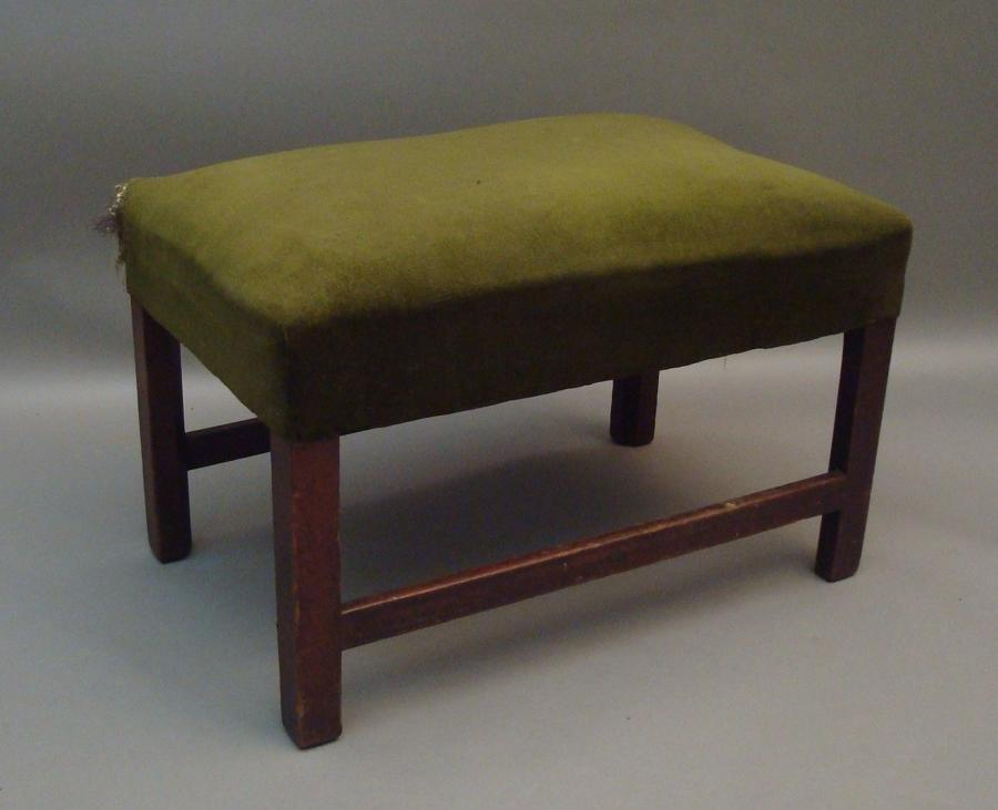 Georgian mahogany, large dressing stool
