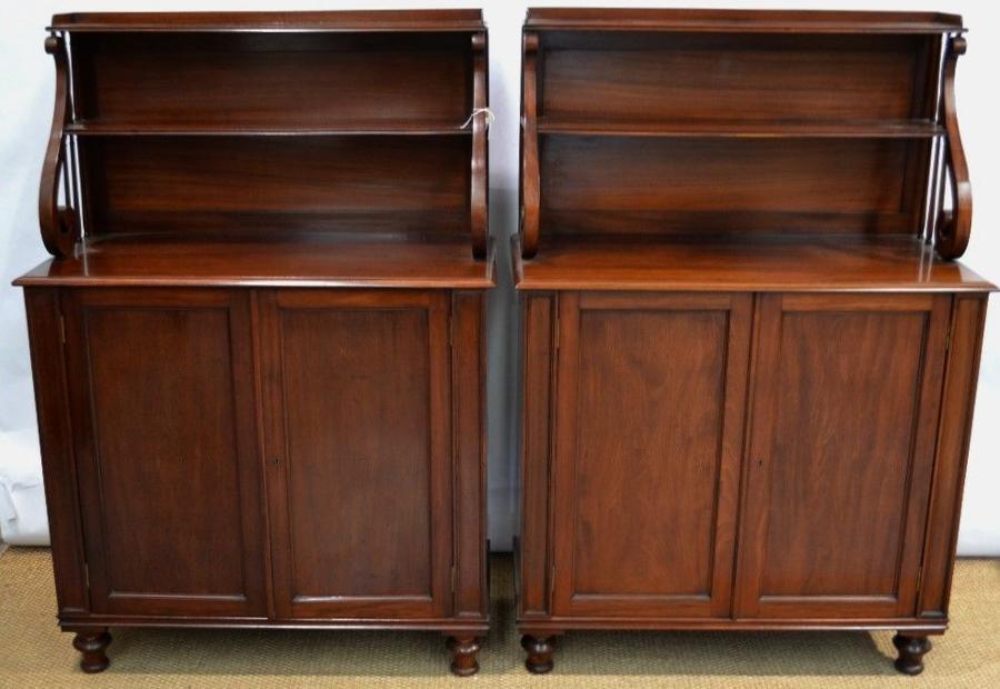 Late Regency pair mahogany chiffoneers