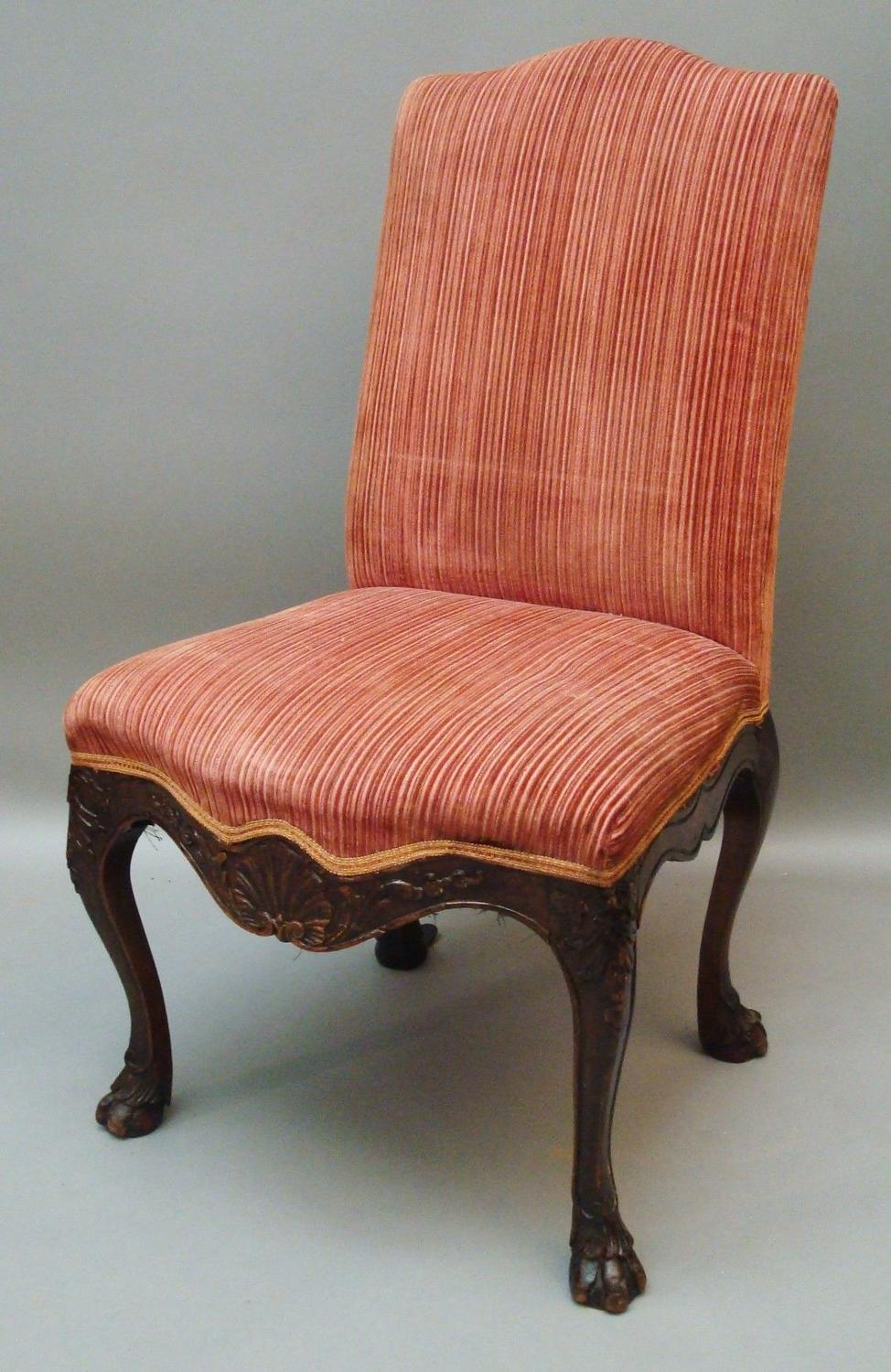 C18th Italian walnut side chair