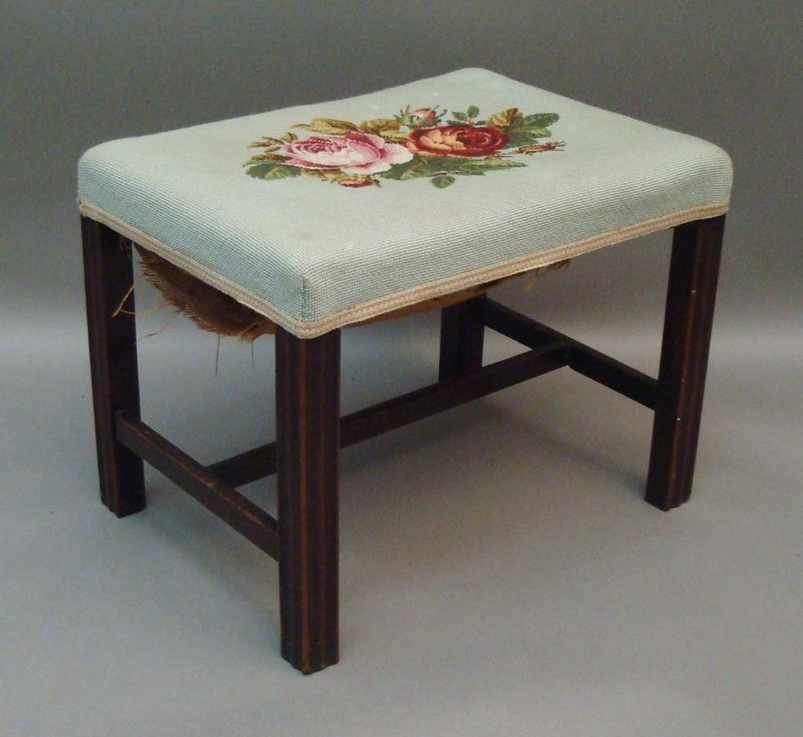 Georgian mahogany dressing stool