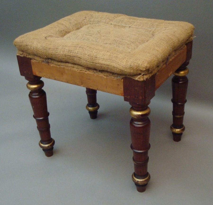George IV mahogany dressing stool