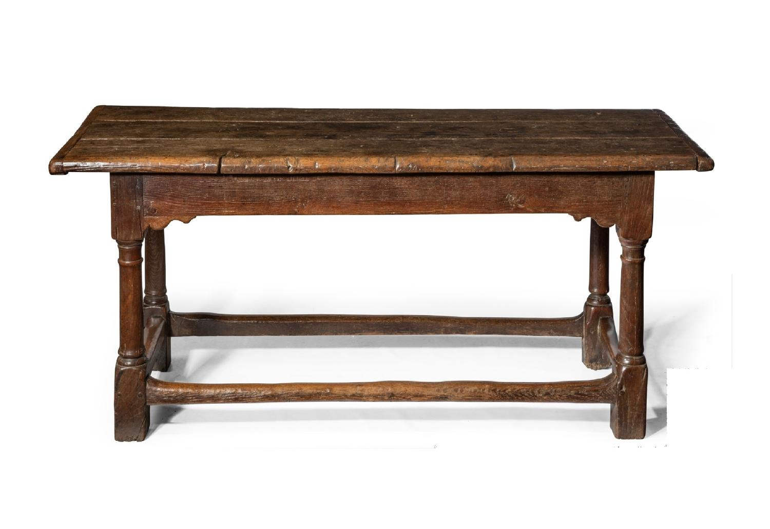 C17th oak refrectory table