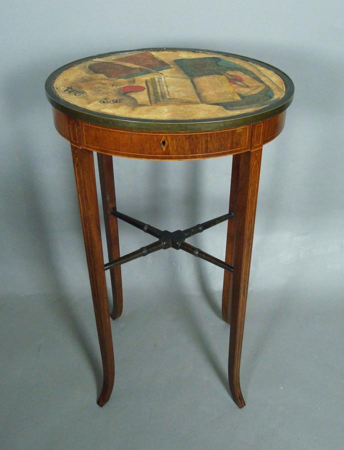 George III trompe d'oeil sewing table
