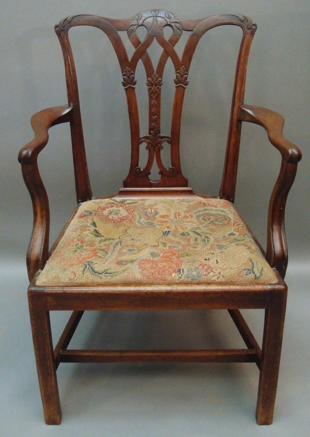 Georgian mahogany elbow chair