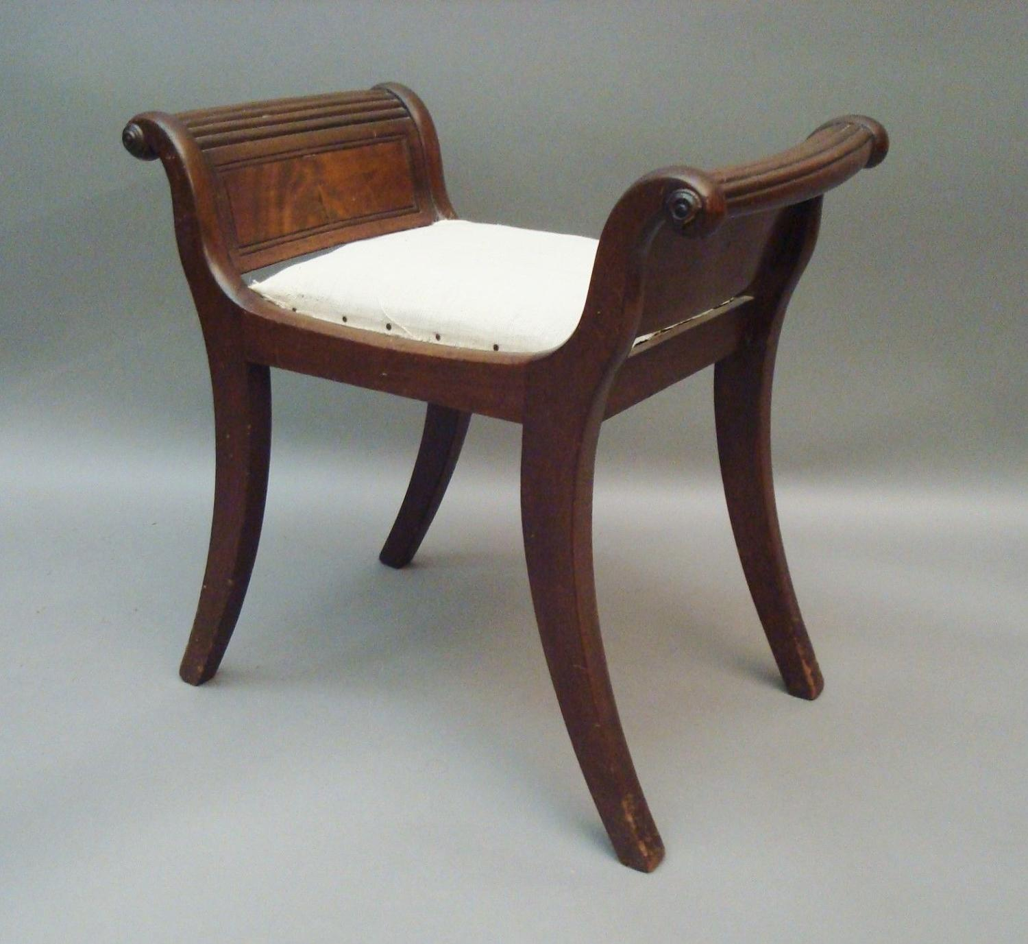 Regency mahogany small stool