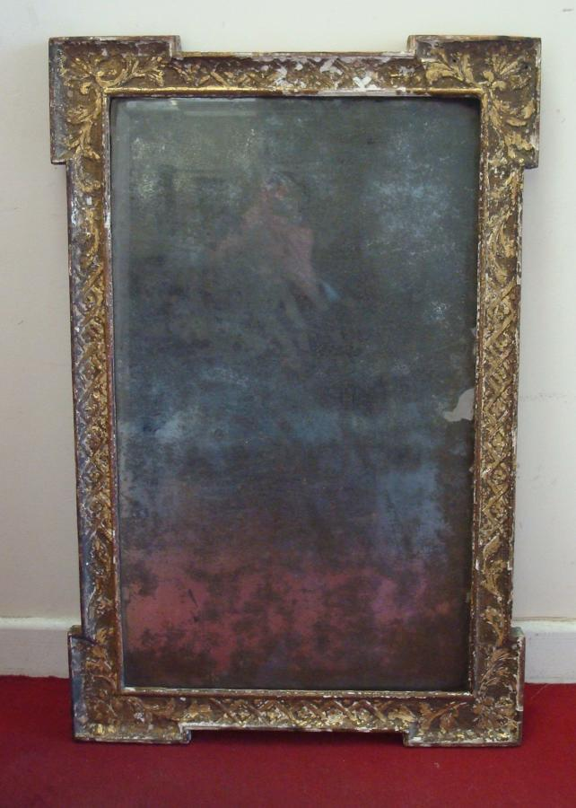 George I shagged giltwood wall mirror