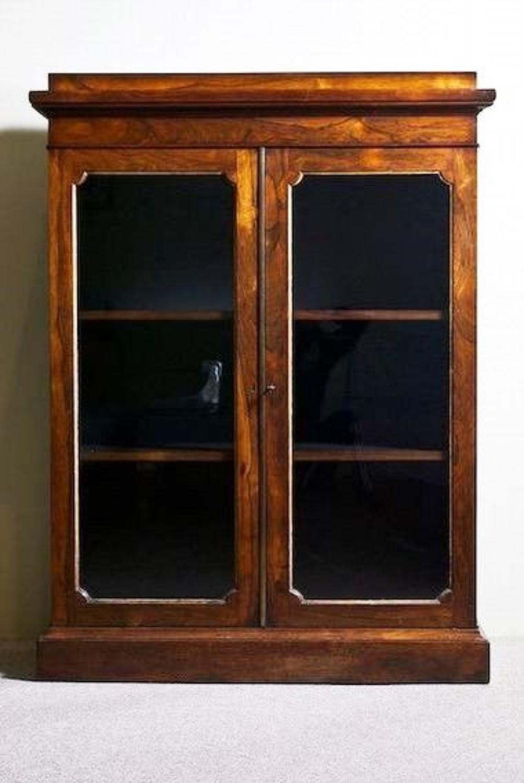 Regency rosewood bookcase cabinet