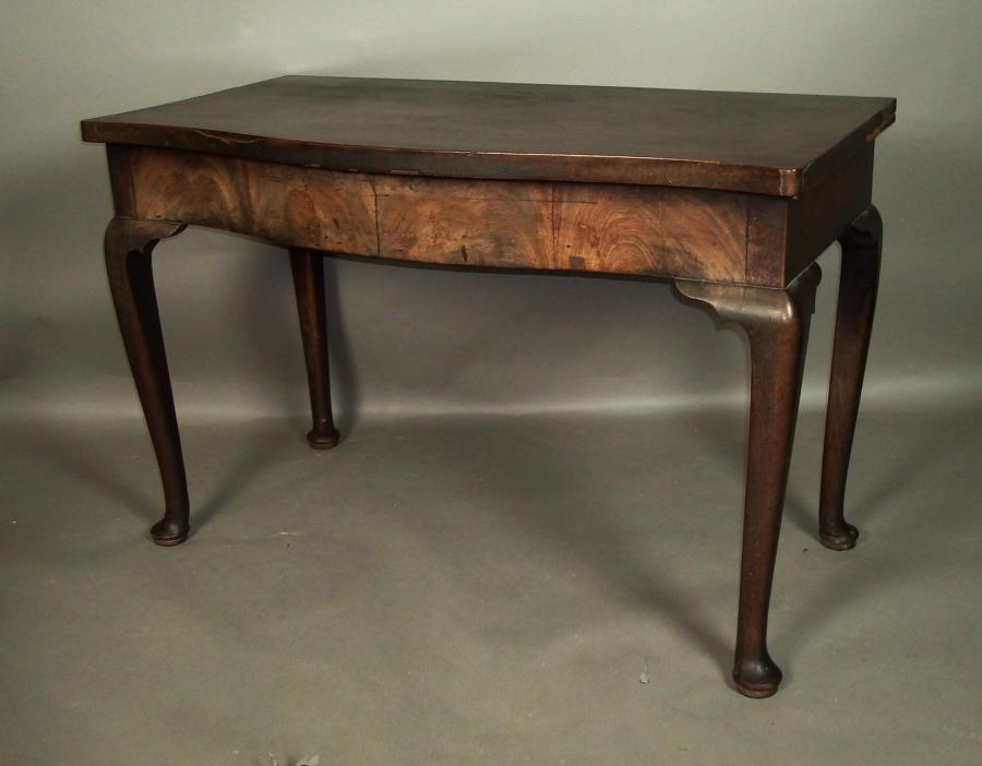 George II mahogany cabriole leg side table