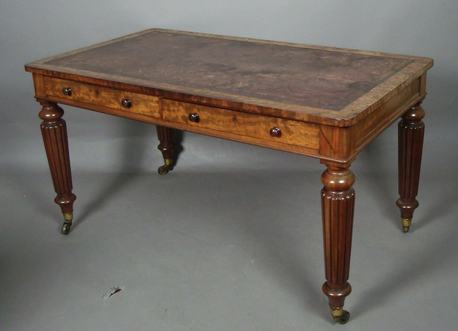 George IV mahogany Holland library table