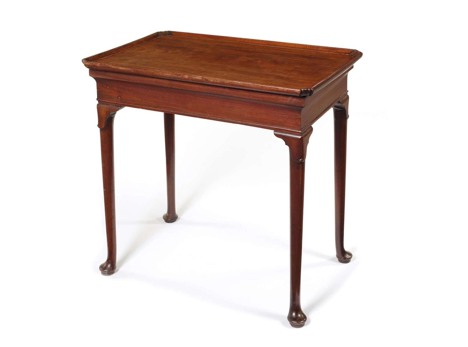 George II mahogany silver table
