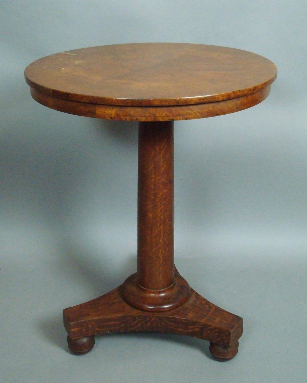 George IV pollard oak occasional table