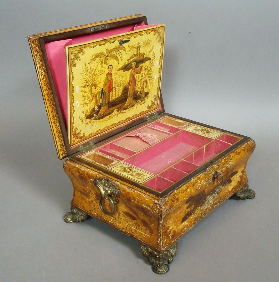 Regency Chinoiserie Sewing/Jewellery Box