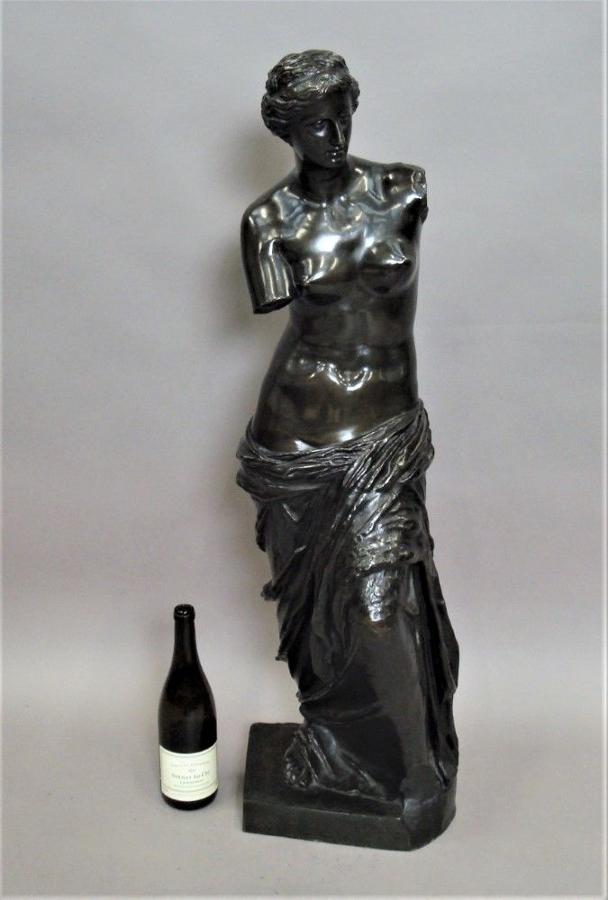 C19th large bronze Grand Tour sculpture of Venus De Milo