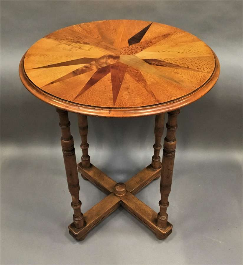 C19th New Zealand specimen wood table