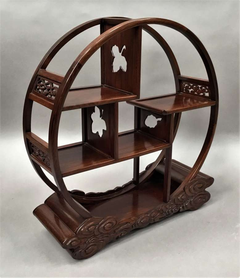 Early C20th Chinese Hongmu display stand