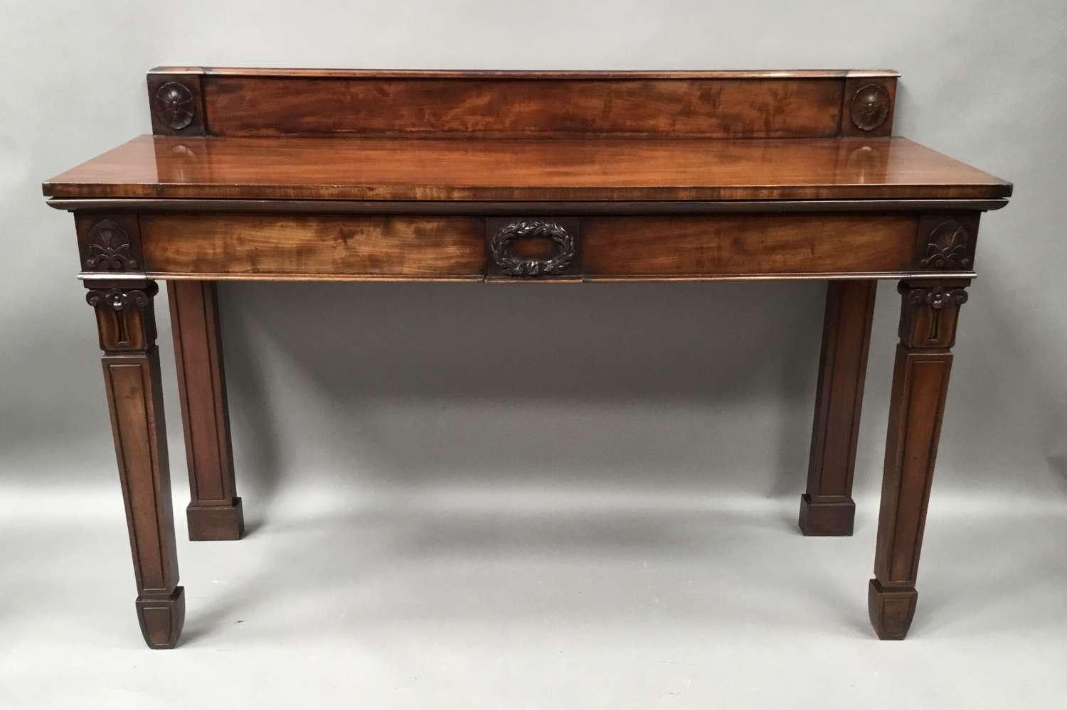 Regency mahogany neoclassical side / serving table