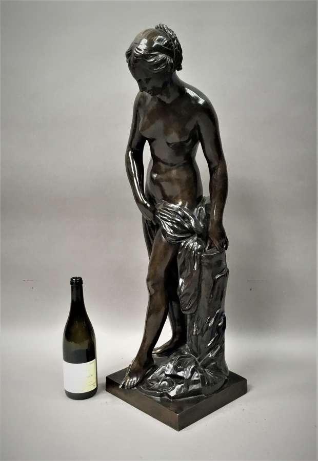C19th large bronze sculpture of Venus Bathing