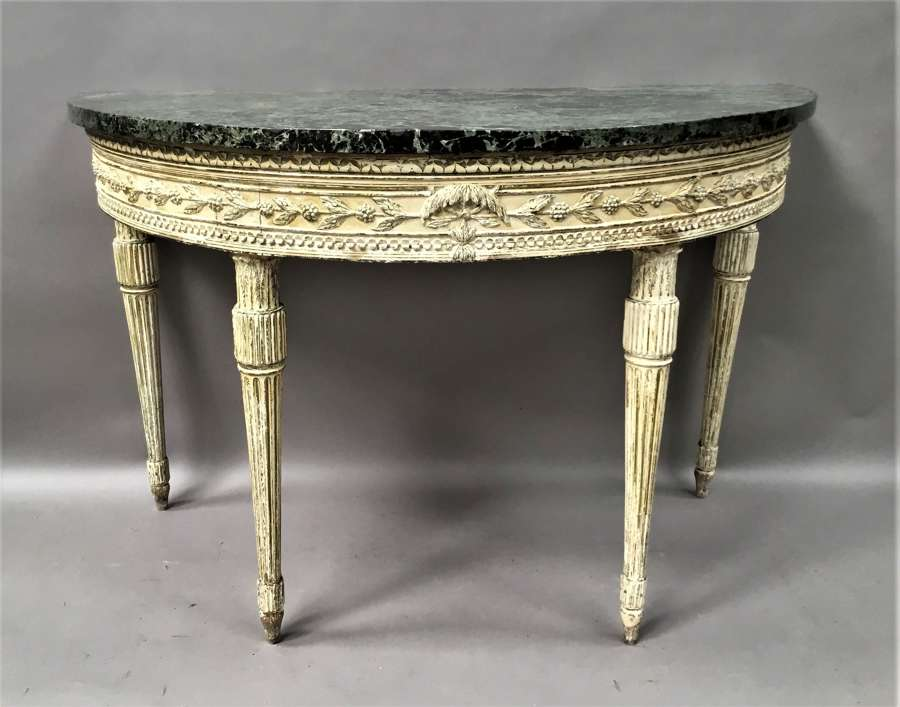 Important C18th Italian painted neo classical console table