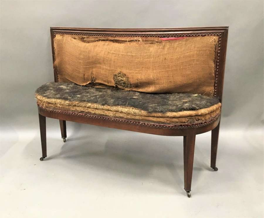Late C18th Italian walnut hall seat