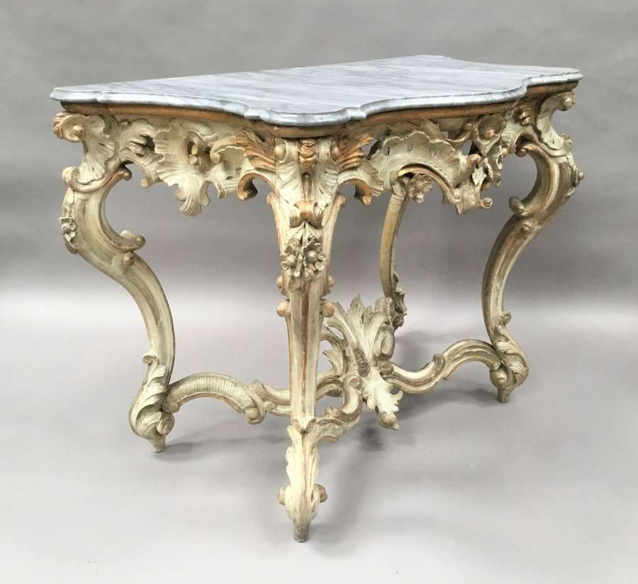 C18th Italian carved roccoco console table