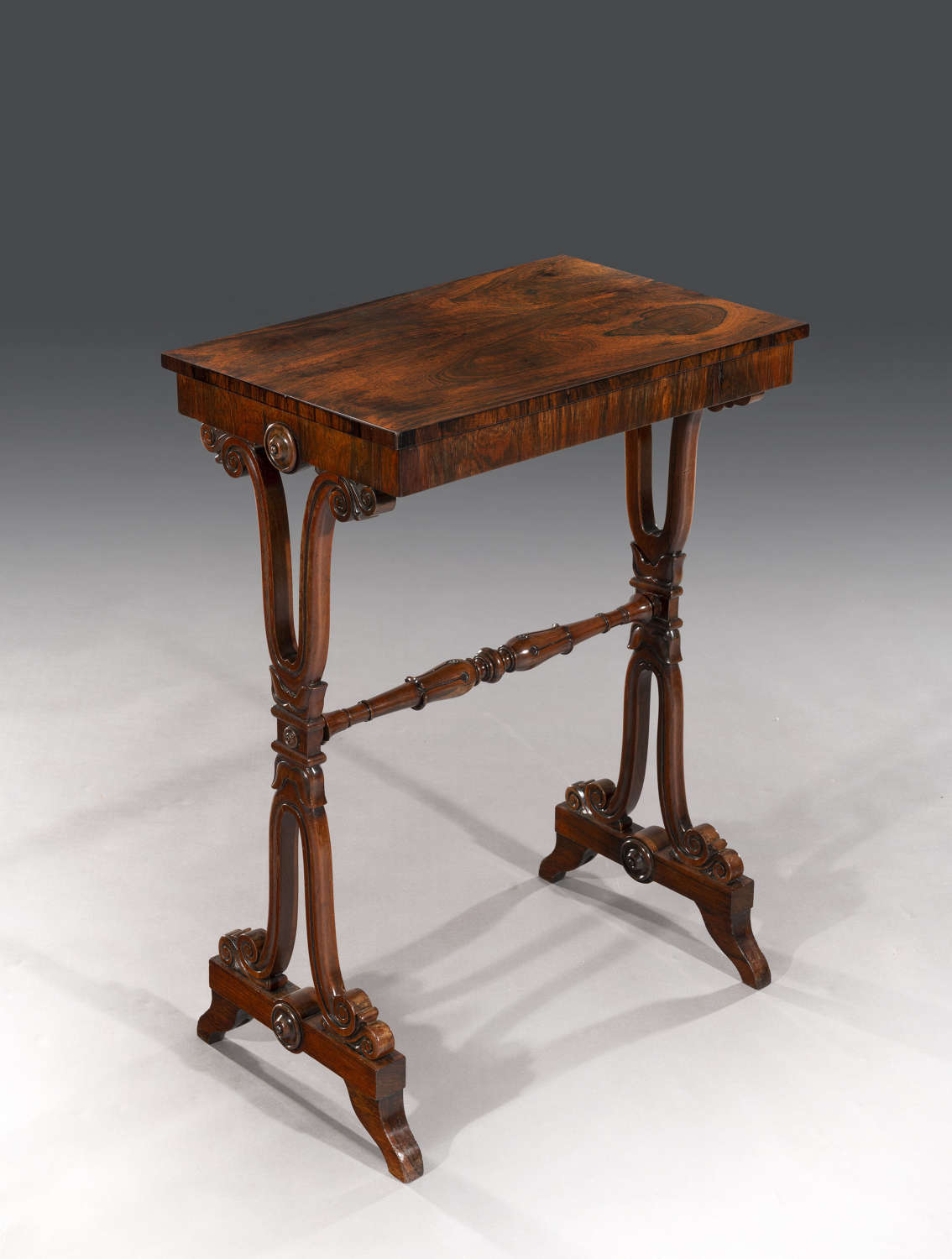 Regency rosewood occasional table / end table