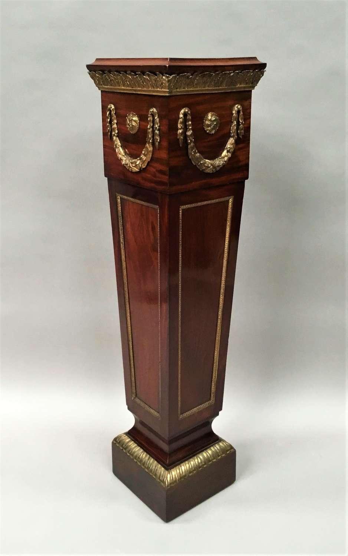 C19th neoclassical mahogany pedestal