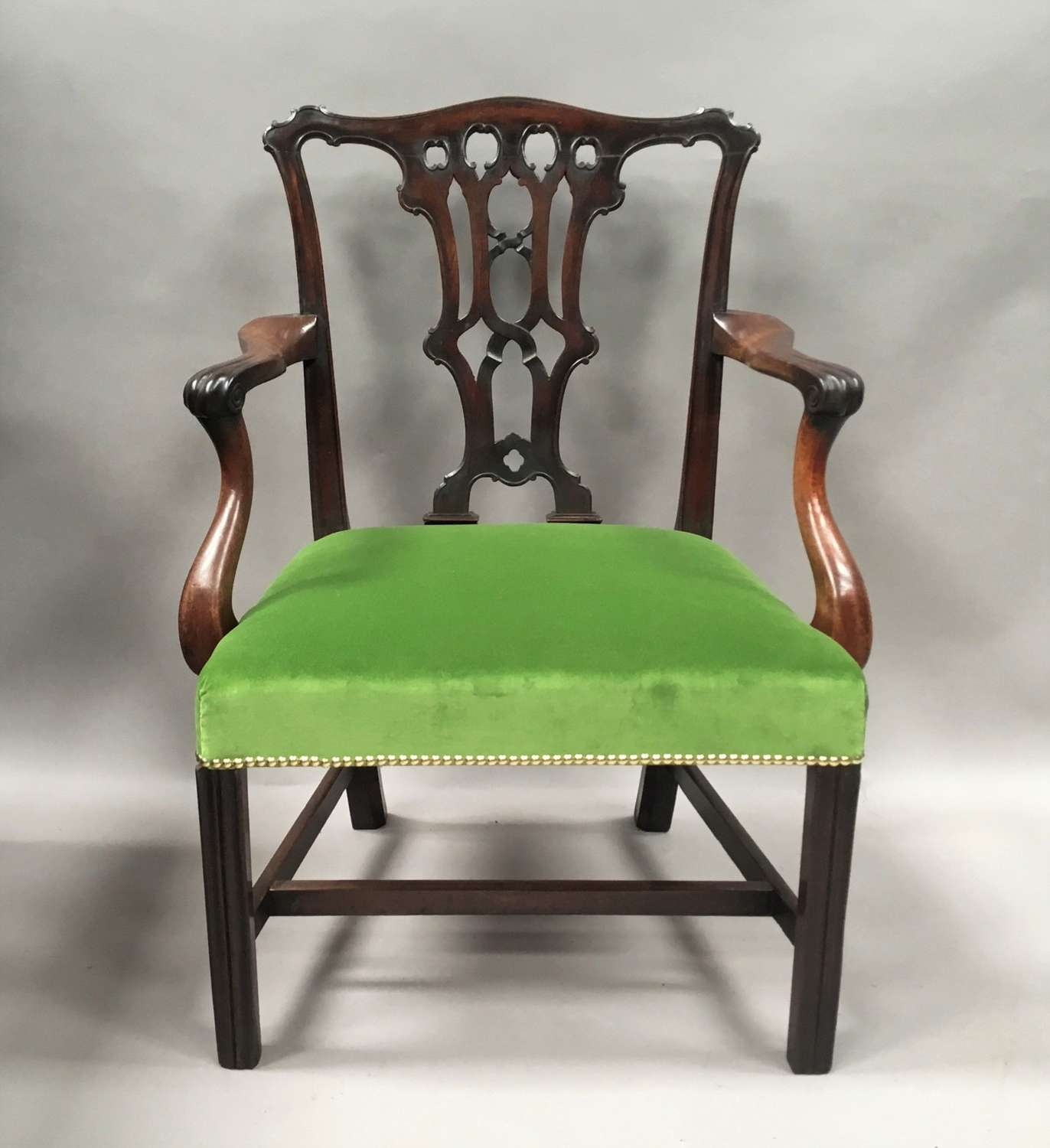 Georgian mahogany armchair in the Chippendale manner
