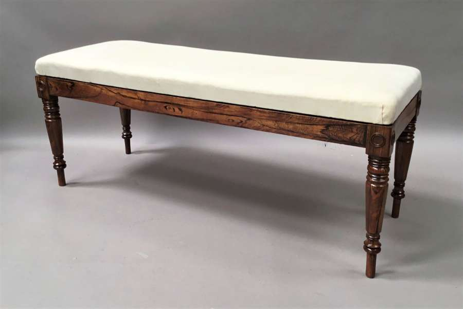 Regency simulated calamader long stool / window seat