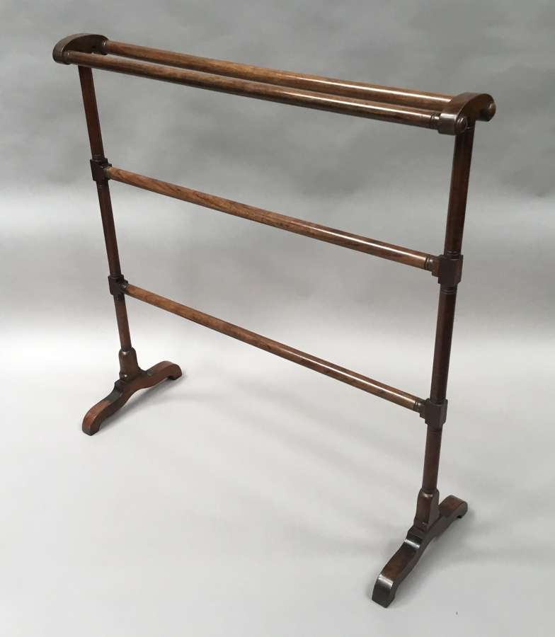 Regency mahogany clothes / towel rail