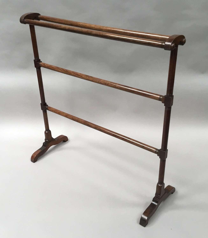 Regency mahogany clothes / towel rail