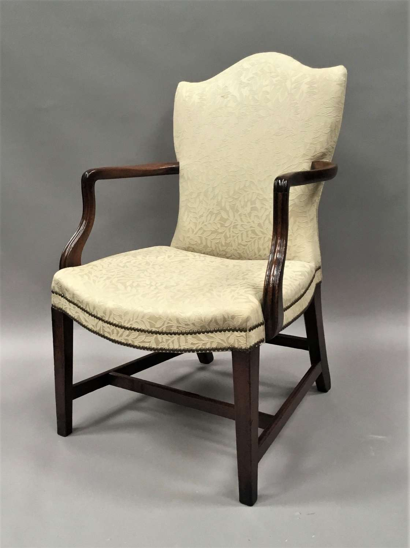 George III mahogany library armchair