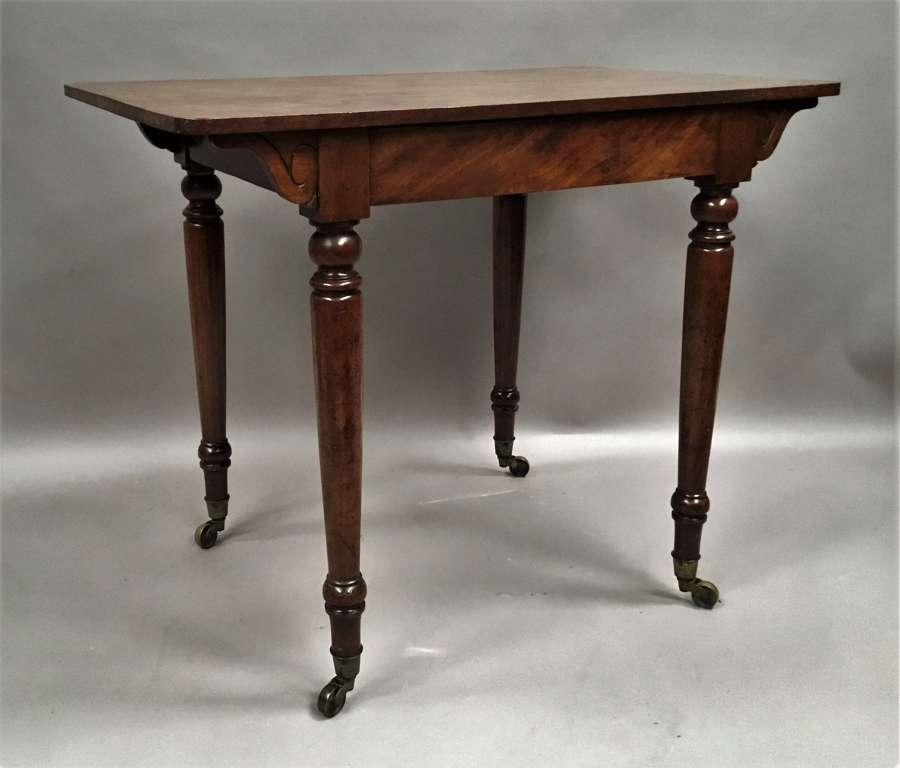 C19th mahogany side table / writing table
