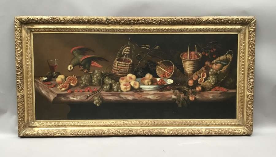 Large C19th still life oil painting