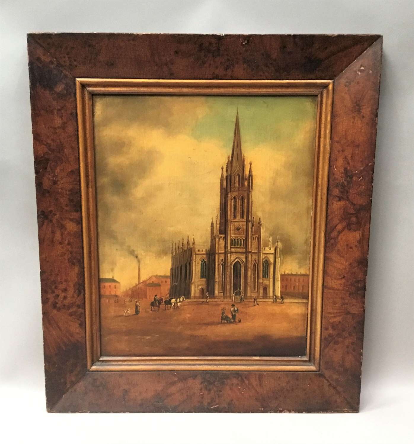 Regency oil painting of Christ Church, Doncaster
