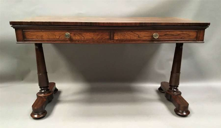 Regency rosewood end support library / centre table