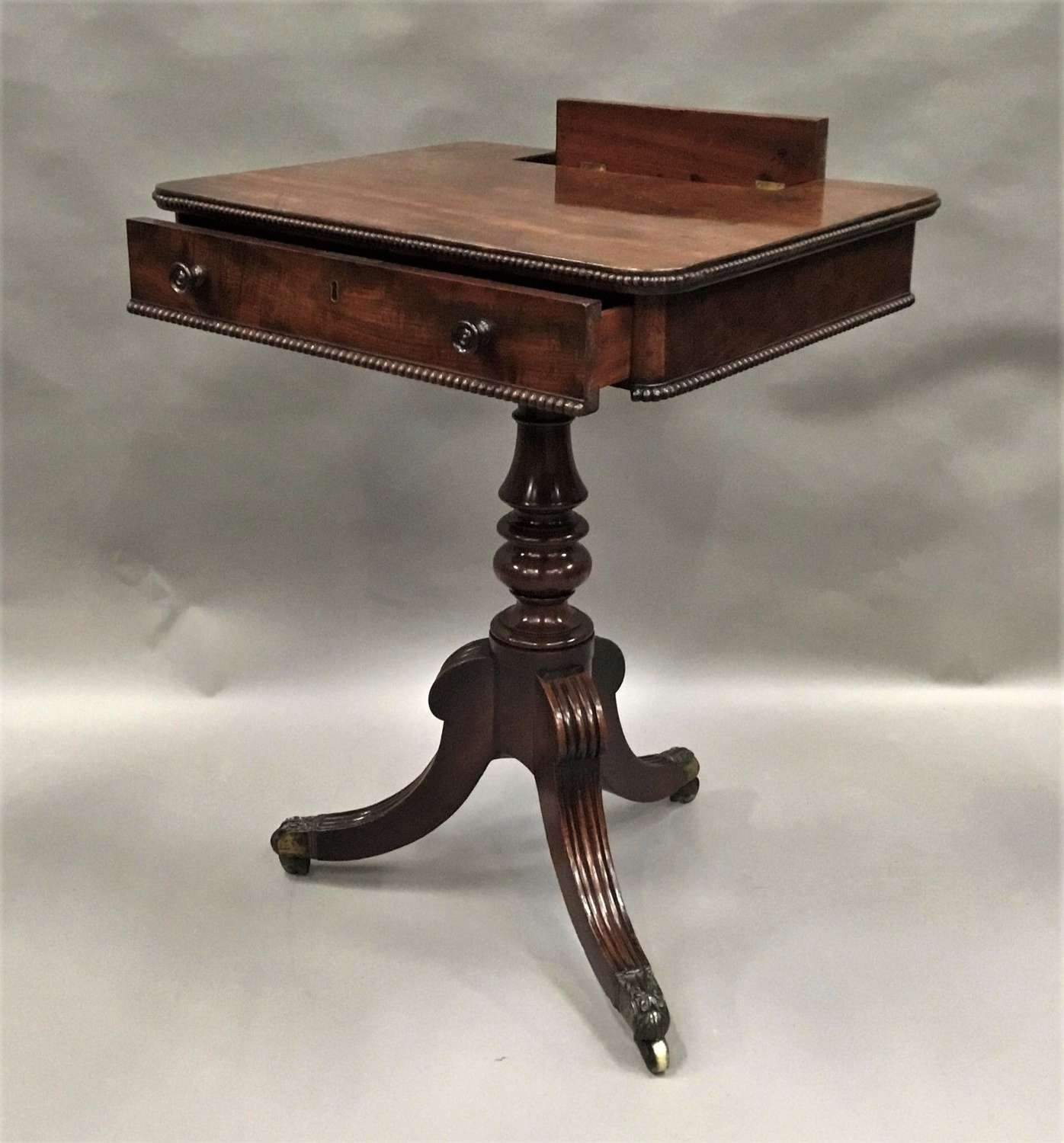 Regency Gillow mahogany writing / occasional table