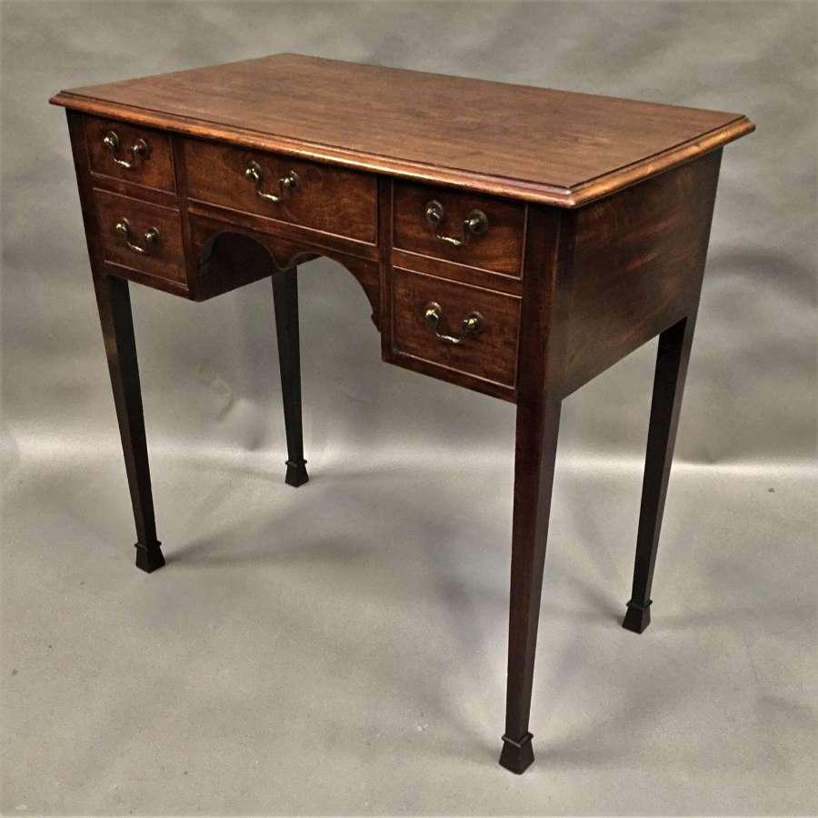 George III mahogany side table / dressing table
