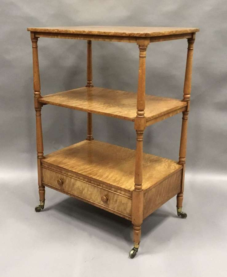 Regency birdseye maple etagere / whatnot