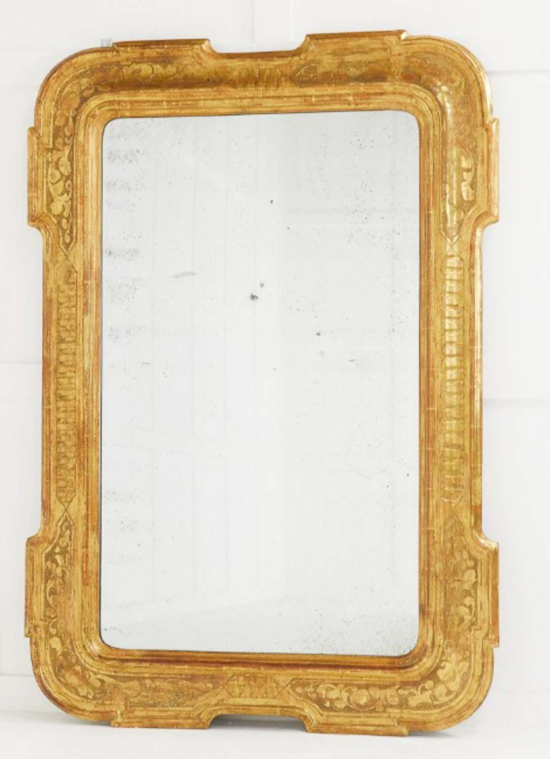 C18th Italian gilt wood wall mirror