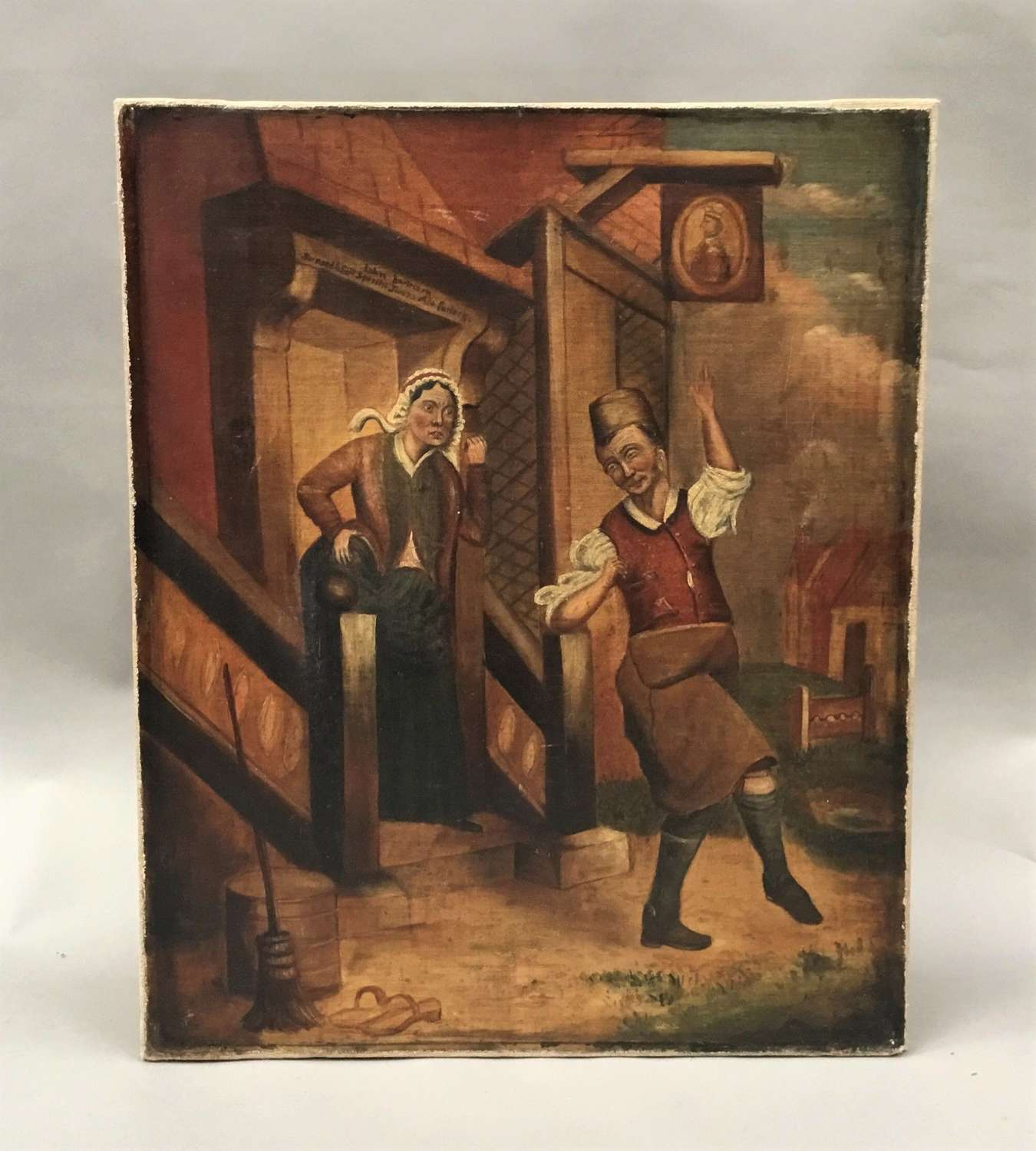 C19th oil painting
