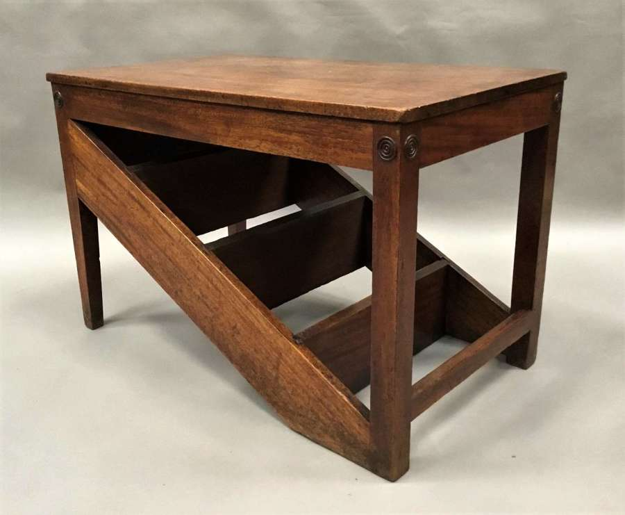 George III mahogany metamorphic library steps / table / stool