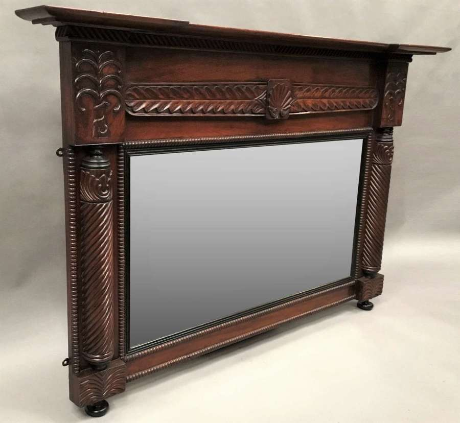 Regency Anglo Indian teak wall / overmantle mirror