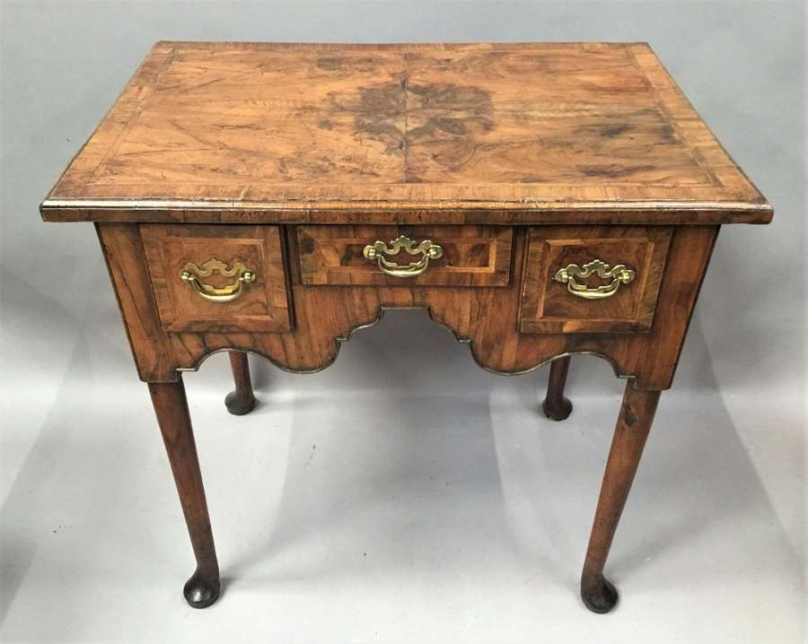 George I figured walnut lowboy