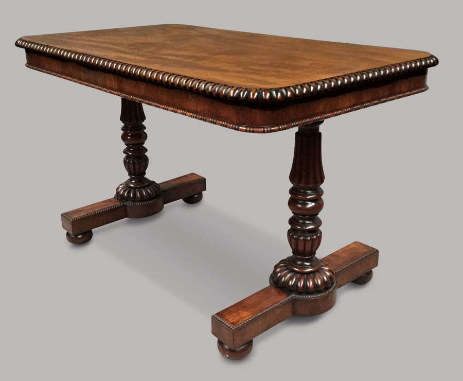 Regency Gillows mahogany library table / centre table