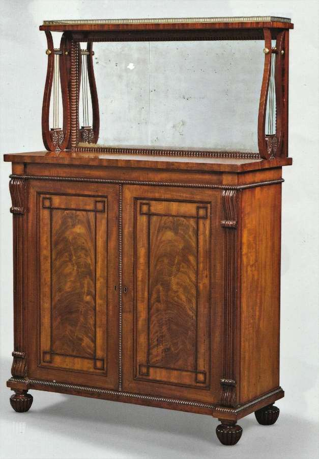 Regency Gillows mahogany side cabinet / chiffonier