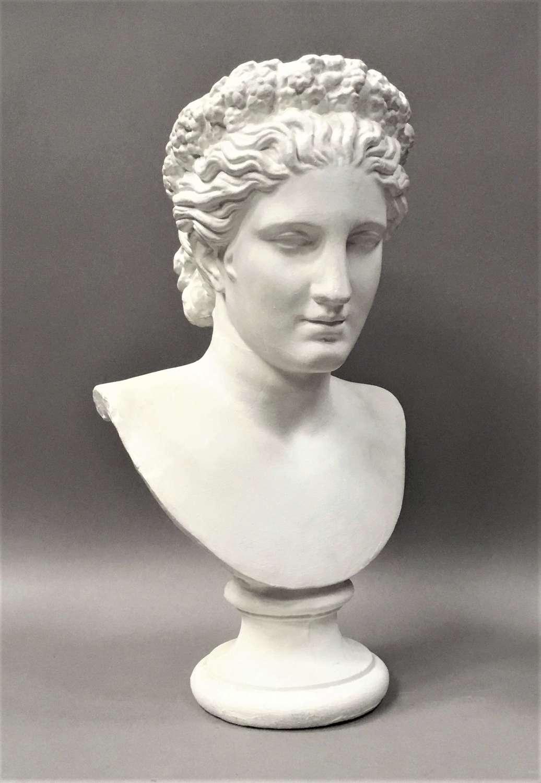 C19th plaster life size bust of Venus