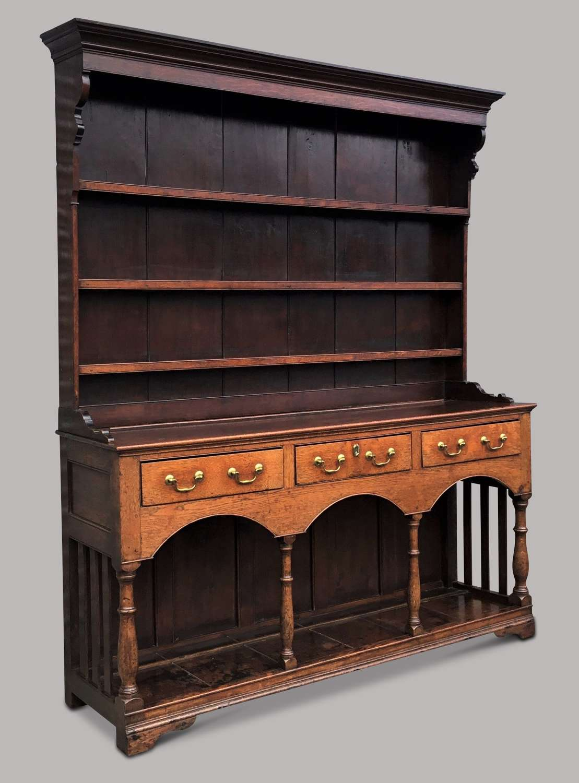 George III oak Montgomeryshire dresser