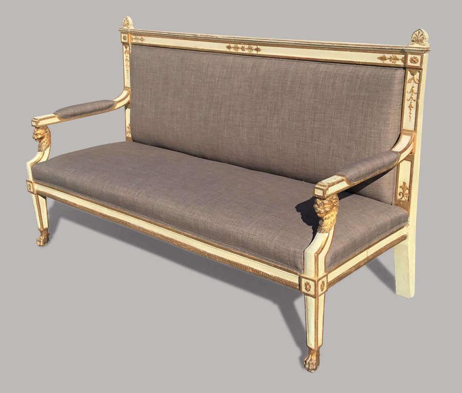 C19th Italian neoclassical settee / sofa